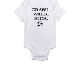 cb891aefb Kick - Soccer Baby Onesie