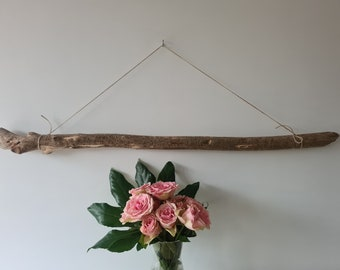 """Super Sturdy Large Driftwood Branch Old Driftwood Piece Wall Hanging Art 37""""/94 cm"""