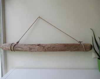 """Unique Spotted Driftwood Piece For Wall Hanging Art Large Pendant Lights Drift Wood Ceiling Lamp 47""""/120 cm"""