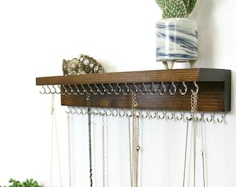 Jewelry Organizer With Shelf, Necklace Holder, Necklace Display