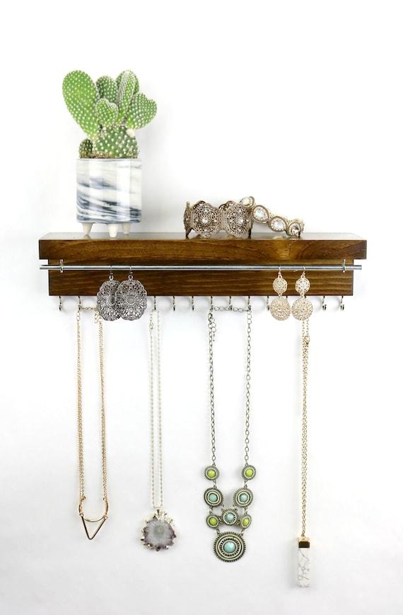 Jewelry Organizer With Shelf Necklace Holder Bracelet And Etsy