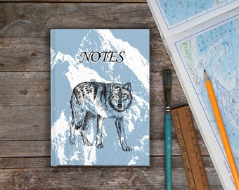Notebooks and Journals 110 pages Snow Wolf NOTEBOOK 8.5x11