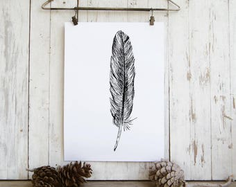 Feather art - printable art, Feather wall art,  Art print, Art & collectibles, Room decor, DIY home decor