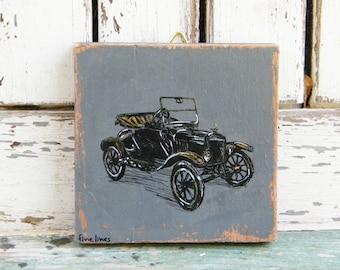 Vintage Car Print, Country Wall Art Print, Retro Style Decor, Rustic Wall Art, Vintage Wall Art, Retro Shabby Chic Decor, Small Art Print