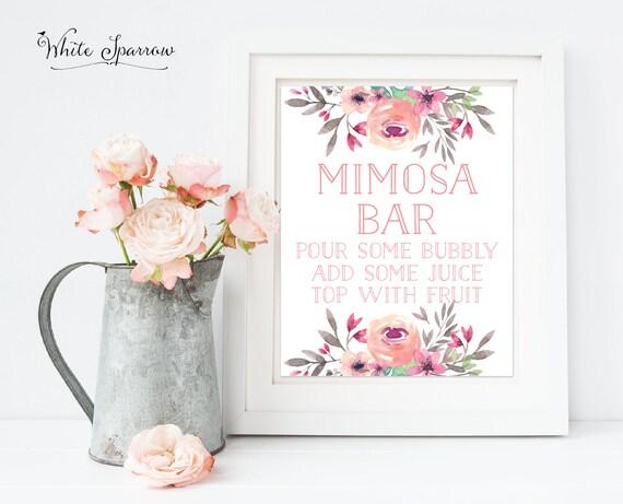 Mimosa Bar Bridal Shower Mimosa Bar Sign Bridal Shower Sign