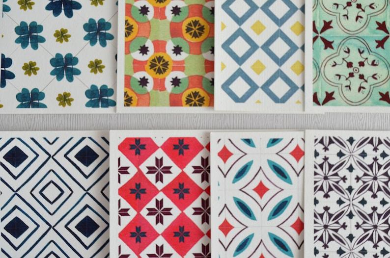 Barcelona tile print barcelona print tile pattern spanish | Etsy