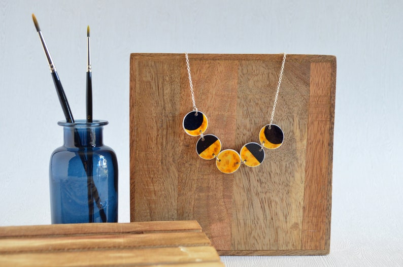Moon phases necklace moon necklace crescent moon necklace image 0