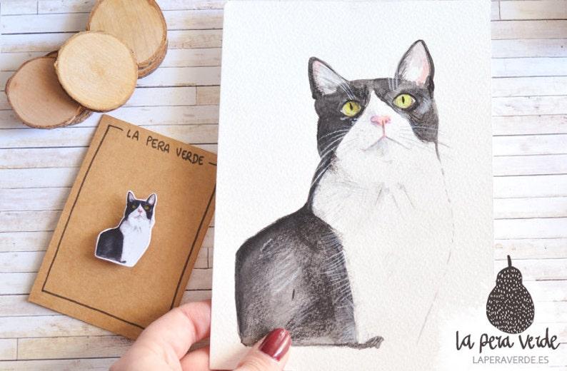 Custom pet portrait custom pet portrait watercolor origital image 0