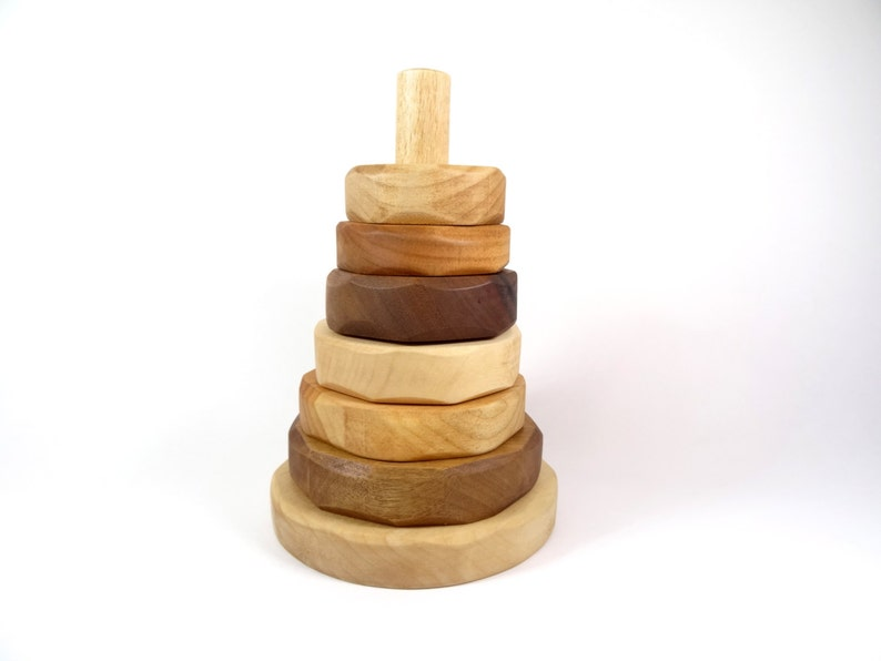 Wooden Stacking Toy for babies // Wooden building toy // image 0