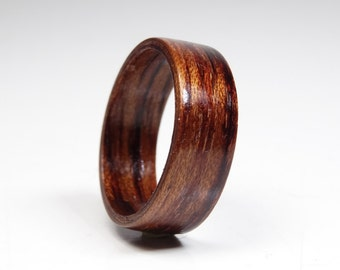 Wooden rings from Bubinga  , wood ring , Bentwood Ring , Alternative engagement ring , wedding wooden ring , Precious wooden jewelry