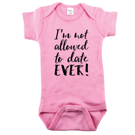 Baby Girls Funny Baby Shower Gift Im Not Allowed To Etsy