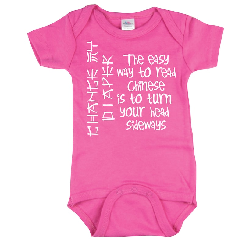 f1b93b086 Easy Way to Read Chinese Infant Creeper Funny Baby Shirt hot