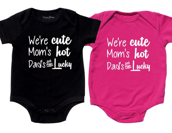 Twin Girls And Boys Outfit Dads Lucky Twin Girls Boys Etsy