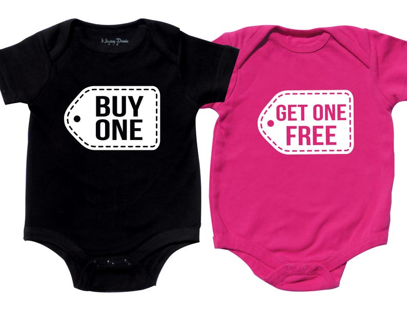 3cbd126aeba6e Twins Baby Clothes, Funny Twin Shirts, Boy Girl Twin Outfits, Twin Baby  Gifts, Twin Baby Outfits, Buy One Get One Free, Boy Girl
