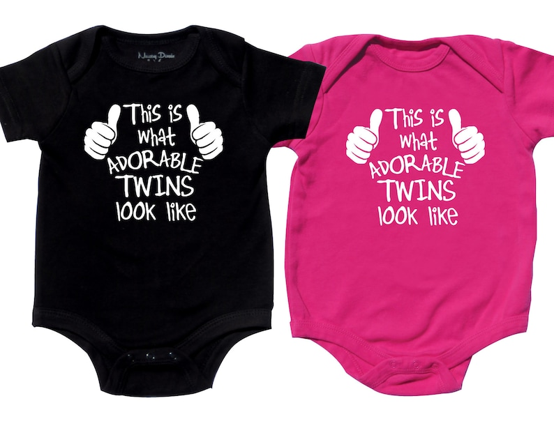 ae985e0e4fe4 Twin Baby shower gifts Twin Matching Outfits Adorable Twins