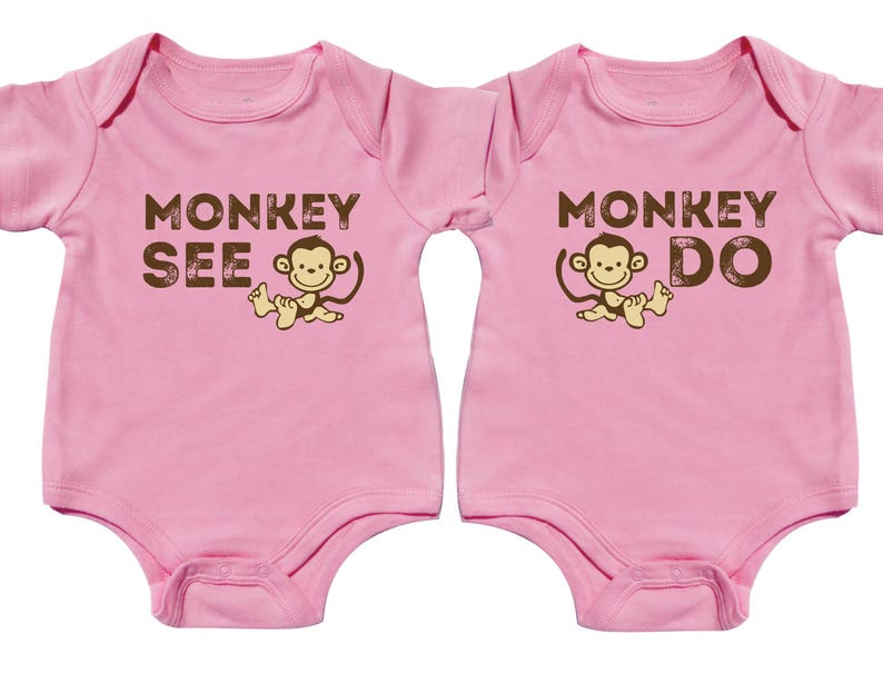 6c6cc2c09 Twin Outfits Cute Girl Twins Matching Sibling Shirts Funny