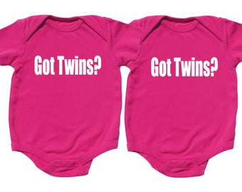 Twin Girls, Got Twins, Twin Outfits, sizes from 0 to 12 months, Girl Twins