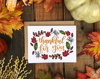 Thanksgiving cards etsy thankful for you friends giving thanksgiving card thankful grateful card fall 2018 fall card m4hsunfo