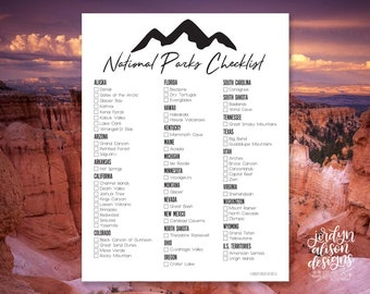 photograph relating to Printable National Park Checklist identified as Bryce canyon park Etsy