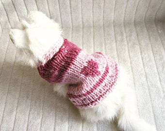 Knitted cat sweater for cat Pink cat sweater Pink sweater for cat sweater vest Crochet cat sweater Kitten clothes Pink cat shirts for cat