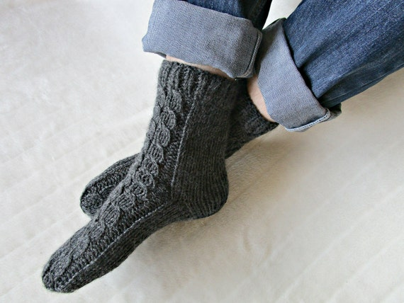 Knit men's socks Hand knit socks Men's knitted socks Woolen knitted socks Handmade socks Warm mens gift for dad brother husband a8ZyeR