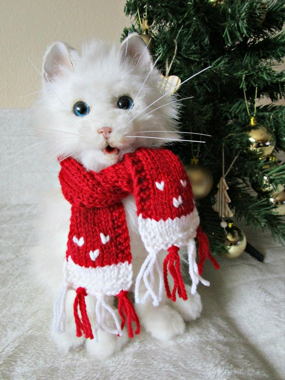 50 - Dog Christmas Scarf For Cat Pet Christmas Outfit Dog Lover Etsy