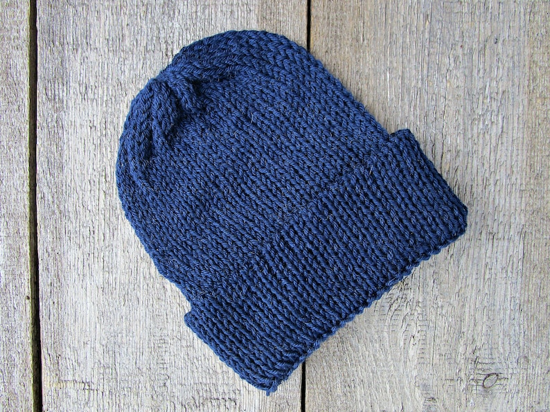 61586f503ab Dark blue mens hat Mens knit hat knitted hat Mens gift for
