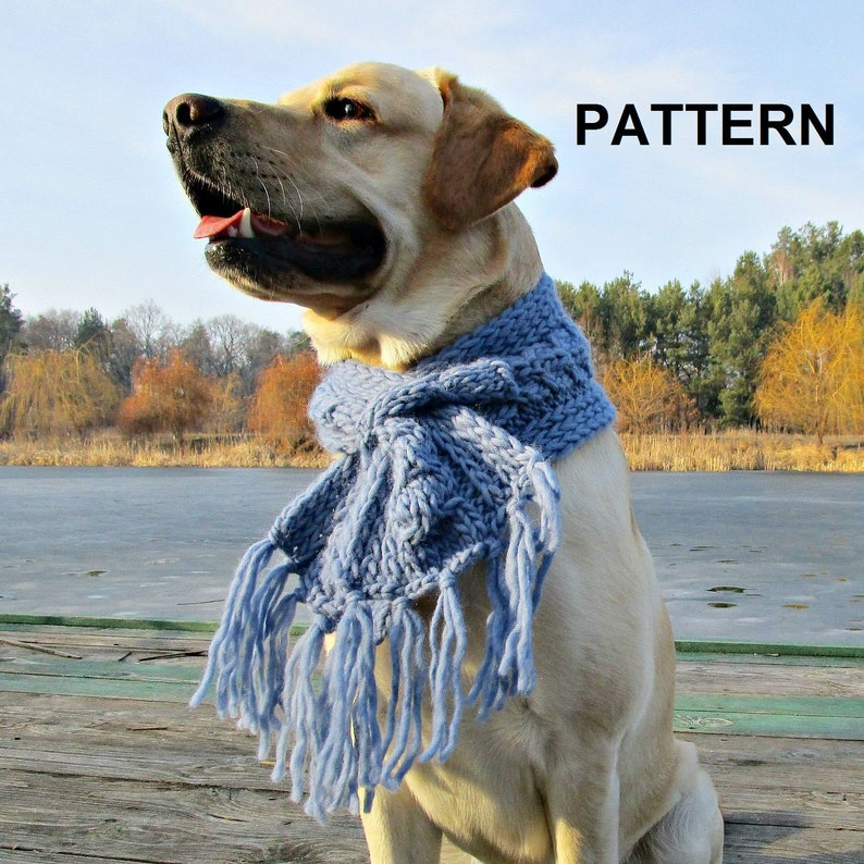Knitting Pattern Dog Scarf Pdf Knitting Pattern For Big Dogs Etsy