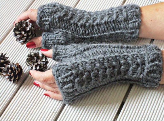 Knit Mittens Knit Gloves Without Fingers Fingerless Mittens Etsy