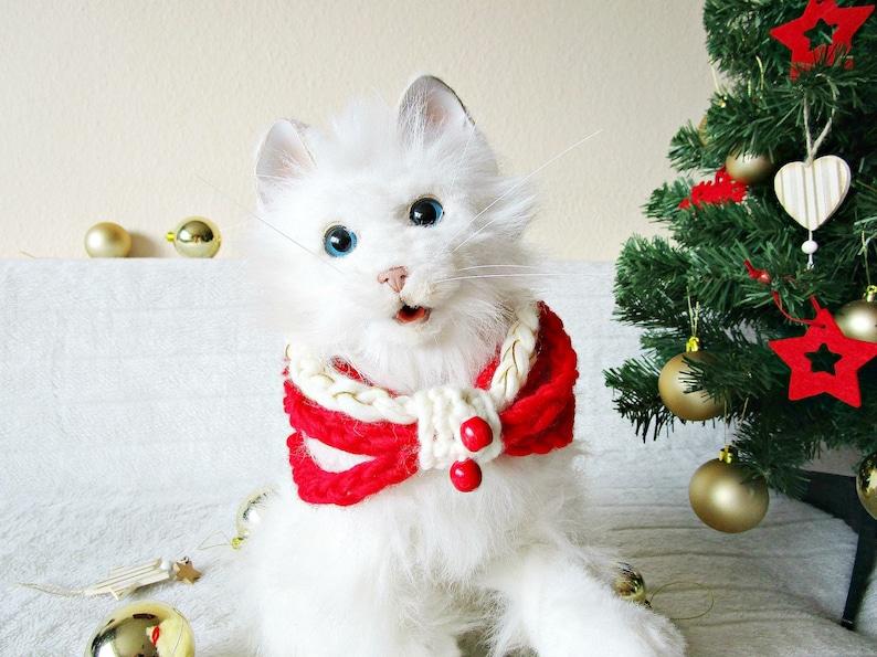 d782ae0bff4ce Écharpe de Noël chat chien collier Crochet chien chat écharpe | Etsy