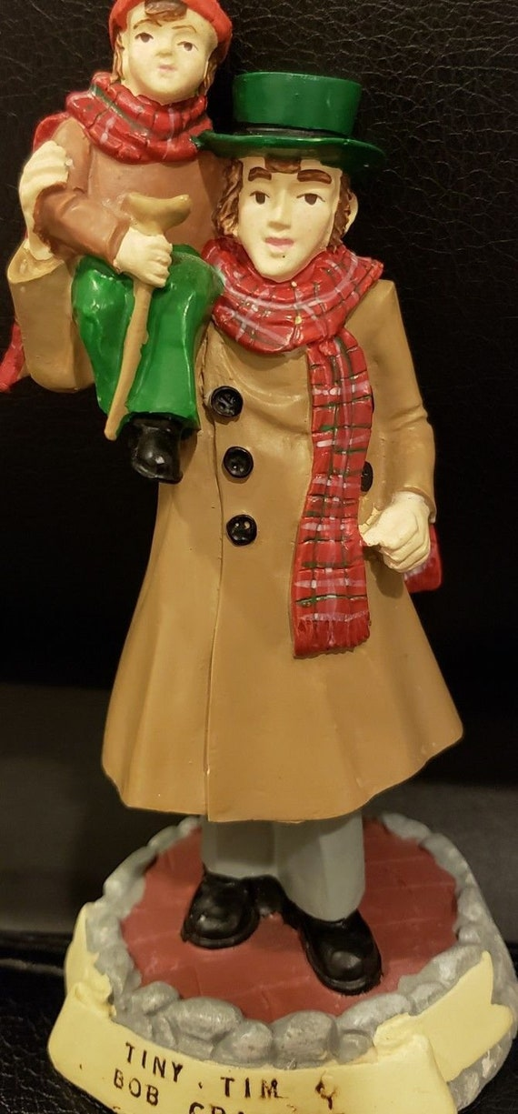 Christmas Carol Characters.Christmas Carol Characters Tiny Tim Bob Cratchit 1993 Artist Susan Safire For Novelino W Orig Box And Pamphlet Top Condition