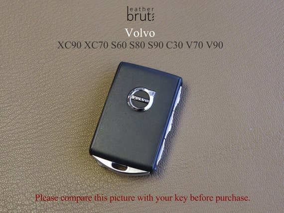 Volvo Leather Key Case XC90 XC70 S60 S80 S90 C30 V70 V90 Cover Italian Leather 5 Colors Personalized Stamp