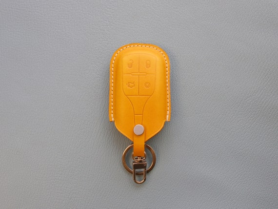 Home Guard NISSAN Keyring Genuine English Leather Keyring Keyfob
