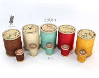 532 Lin Cable Sajou Fil Au Chinois Cable Linen Waxed Threads  - 10m Spool