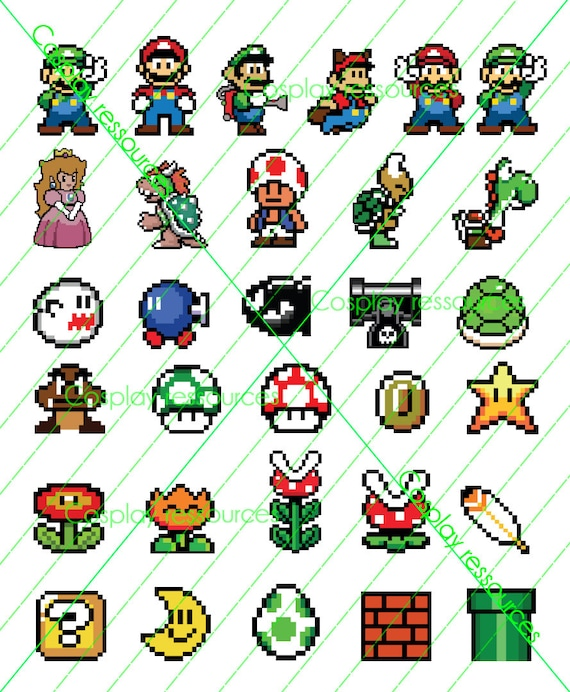 30 Printable Vector Graphics Inspired By The Marios Universe