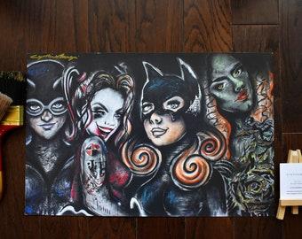 DC Females Art Print