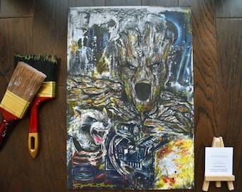RR & Groot Art Print