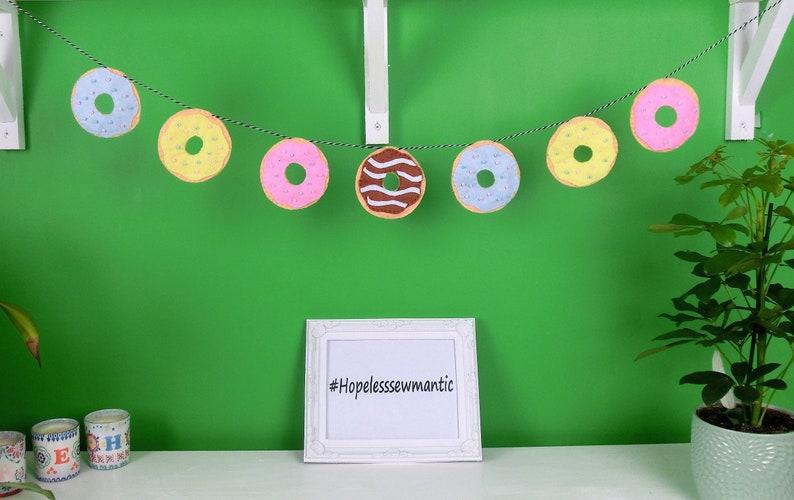 Doughnut felt party bunting banner garland. image 0