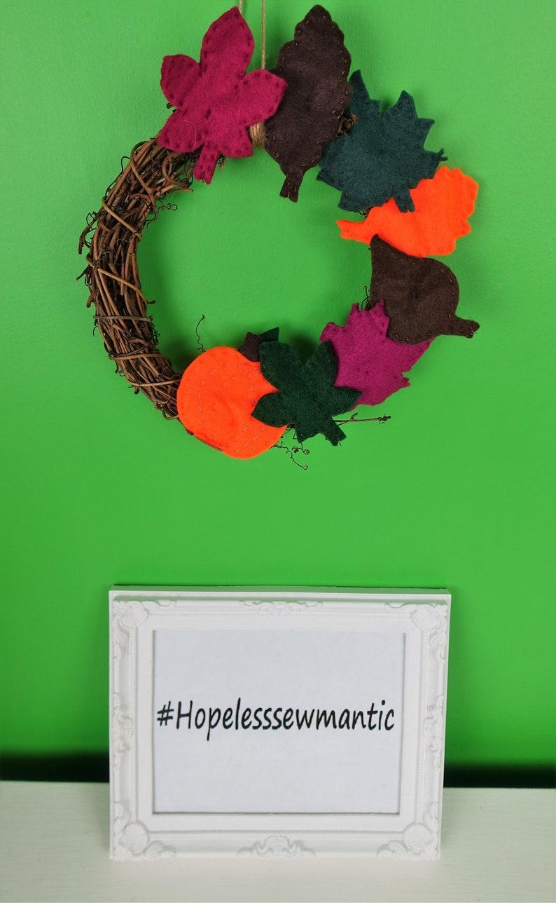 Autumn wreath door decoration. image 0