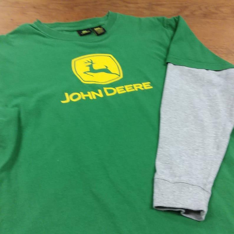 352a4af3f10 Vintage John Deere T-Shirt 100% Cotton Brown Green Yellow
