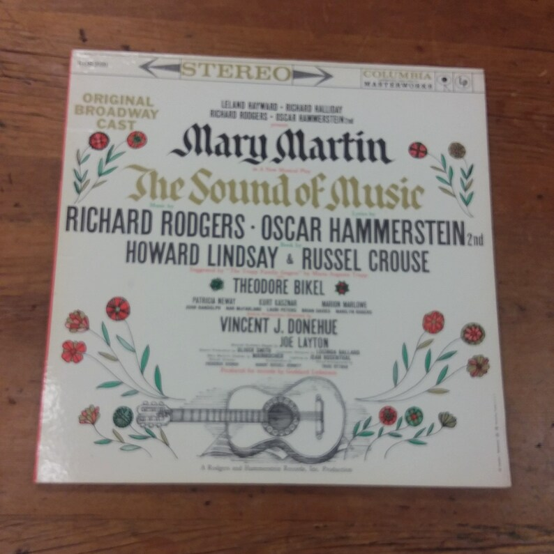 1959 Sound of Music Original Broadway Cast Musical Play Soundtrack, Mary  Martin Vinyl Record Album, Columbia Masterworks