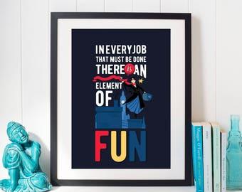 Posters Per Camera Da Letto : Mary poppins citare poster arredamento camera da letto art etsy