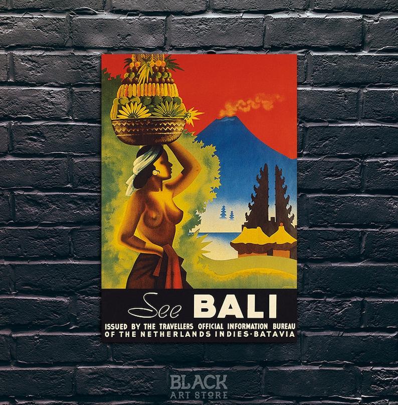 Bali Travel Poster Bali Travel Print Tourism Wall Art Etsy