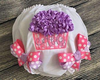 Birthday Cupcake Diaper Cover, Personalize Birthday Bloomer, First Birthday Cake Smash, Baby Girl 1st Birthday Bloomer, Hot Pink Lavender