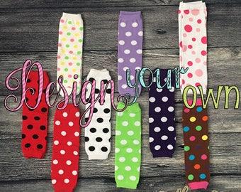 Polka Dot Leg Warmers, Polkadot Legging, Toddler Legging, Infant Girl Leg Warmer, Girl Baby Shower Gift, Birthday Outfit, Baby Girl Leggings