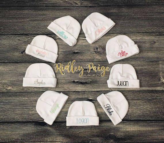 PERSONALIZED MONOGRAM CUSTOM Ladybug Baby Infant Newborn Beanie Cap Hospital Hat