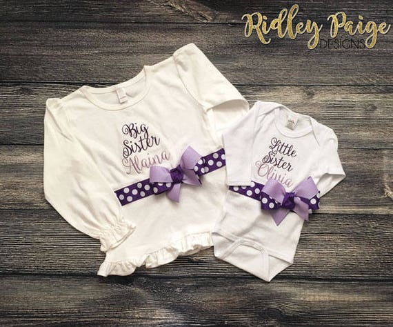 ff1942d78 Personalize Big Sister & Little Sister Matching Outfit | Etsy