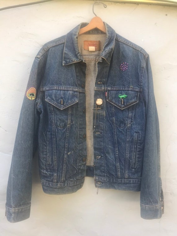1970s Handpainted and Embroidered Levis Denim Jack