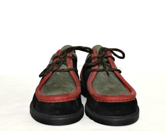 658bab187fe3 Leather shoes Made in Germany Multicolored Leather Boat shoes Sperry Top  Sider shoes Hipster shoes Sport Lace up shoes Small size