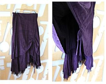 72590998c7b Layered skirt Long skirt 90s skirt Adjustable skirt Goth skirt Maxi skirt  Boho skirt Hippie skirt Festival skirt Gypsy Harajuku Steampunk